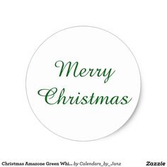 Get your hands on great customizable stickers from Zazzle. Christmas Stickers, Green