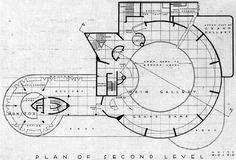 Plan of second level - Guggenheim Museum