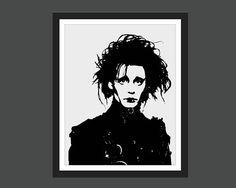 Edward Scissorhands Canvas Print! https://www.etsy.com/ca/listing/564763729/edward-scissorhands-tim-burton-johnny
