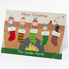 Personalized Family Christmas Card Idea - so cute and funny!