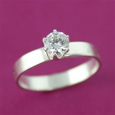 Personalized Round Cut CZ Engagement Ring - Spiffing Jewelry