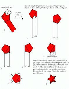 Resultado de imagem para origami estrela 3d