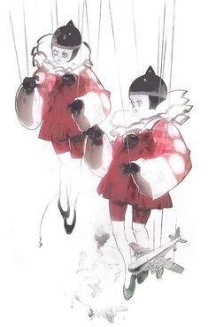Metal Gear Acid concept art by Masao Tsubasa * (http://37.media.tumblr.com/1b6d9226a0696e4d4867ee0f2da6a954/tumblr_n6xxmdANQR1sxm4gzo2_1280.jpg)