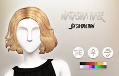 """simduction: """"Natasha Hair by SimductionNew hair for females. Base game compatible, Comes in 18 colors, hat compatible. Feel free to recolour! """"🐦 This hair is a conversion of the Black Widow hair from the Marvel Heroes game. I made it maxis match. Sims Four, Sims 4 Mm, Female Black Widow, Marvel Heroes Game, Pelo Sims, Hair Pack, Sims Games, 80s Hair, Sims 4 Cc Finds"""