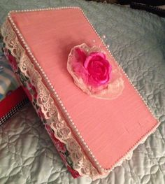 Decorated shoe box. & Paint or cover a shoe box...decorate with ribbons... | craft ...
