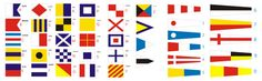 Nautical Flags Set or Fabric Bunting Chevron Blue by customflag, $99.00