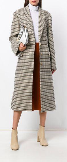 STELLA MCCARTNEY Harper check coat, explore new season coats on Farfetch now.