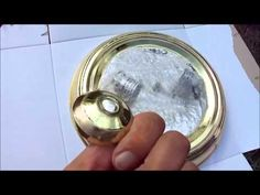 Spray paint expensive looking finish on cheap light fixture - YouTube
