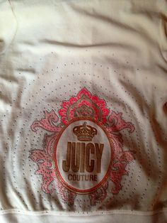 White, coral and pink Juicy Couture velour hoodie