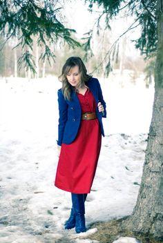 #eshakti #dress #crimson #red #spring #summer