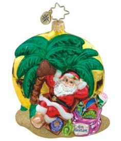 Santa's Day Off - Personalized Family Vacation Christmas Ornament