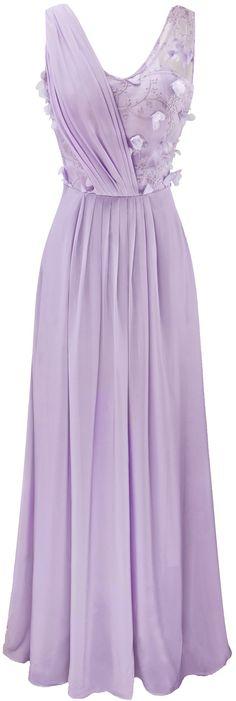 Angel-fashions mujer Violeta de gasa con cuello en V vestido de novia apliques Transparente: Amazon.es: Ropa y accesorios