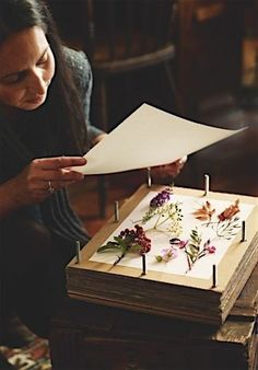 garden illustration Gardens Illustrated has joined together with The Herbarium Project to show you how to make your own floral Advent calendar for Christmas. Flower Crafts, Diy Flowers, Diy And Crafts, Paper Crafts, Pressed Flower Art, Nature Crafts, Handmade Home, Diy Art, Flower Power