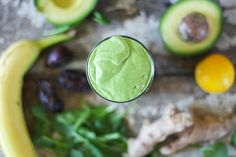 Nutrition Stripped | Creamy Ginger Green Smoothie | http://www.nutritionstripped.com