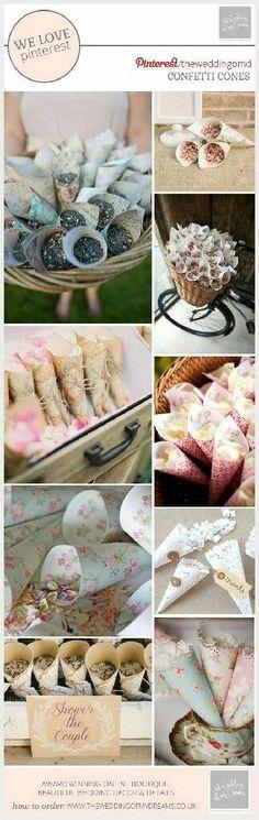 Inspiración de conitos para boda