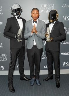 Pharrell Williams and the robots.