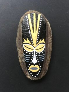 Totem Pole Art, Rocks, Mom, Painting, Accessories, African Masks, Painting On Stones, Crafting, Painting Art