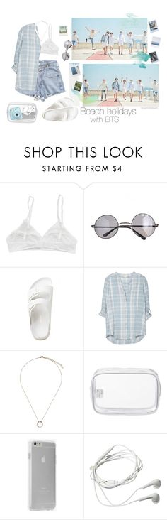"""""""☆*:.。. Beach holidays with BTS .。.:*☆"""" by youaremorethanbeautiful ❤ liked on Polyvore featuring KEEP ME, Retrò, Soft Joie, Orelia, John Lewis, Case-Mate, Samsung and Fujifilm"""
