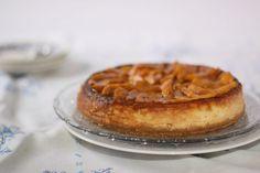 Cheesecake de melocotón y vainilla con base de obleas de helado: una tarta de queso absolutamente deliciosa que es puro vicio