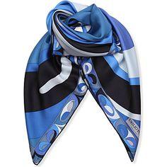 EMILIO PUCCI Pucci print scarf (Blue