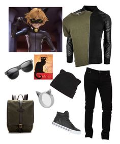 """""""Miraculous Ladybug - Chat Noir"""" by skullcandi13 ❤ liked on Polyvore featuring Dolce&Gabbana, River Island, Filson, Supra, ZeroUV, Forever 21, Meadowlark, men's fashion and menswear"""