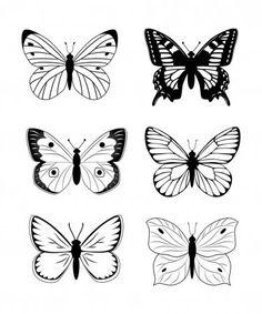 Butterfly Project, Butterfly Drawing, Butterfly Tattoo Designs, Simple Butterfly Tattoo, Butterfly Stencil, Mini Tattoos, Body Art Tattoos, Tattoo Drawings, Art Drawings