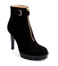 Black Suede Stiletto Heel Ankle Boots 20% OFF- Code PINTEREST20