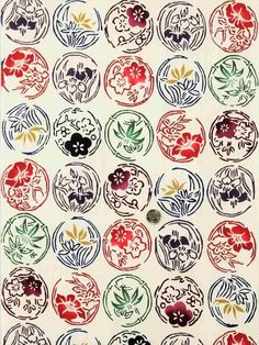 紅型浴衣反物 Chinese Patterns, Ethnic Patterns, Japanese Patterns, Japanese Design, Japanese Art, Print Patterns, Japanese Textiles, Japanese Fabric, Okinawa