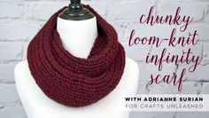 Make a beautiful infinity scarf without needles or crochet hooks! If knitting or crochet intimidates you, the loom knitter is the perfect way to begin workin...