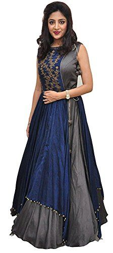 33ad05a764 Women s Free Size Indo Western Dress ( Indo Westerns Taffeta Silk Free Size  )