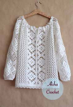 Click to view pattern for - Crochet lace blouse