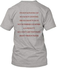 Physical Therapy t-shirt.  Love it!  (especially #2 and #5)
