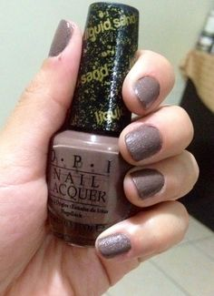 Liquid sand nail polish #OPI
