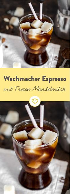 Espresso mit Frozen Mandelmilch: Cooler Wachmacher im Glas It's time to wake up and take your vacation home! Only 2 ingredients to create a refreshing drink of a unique flavor. Vegan Smoothies, Smoothie Drinks, Smoothie Recipes, Frostig Rezept, Maggi Fix, Fresco, Coffee Drink Recipes, Espresso, Vegan Sweets