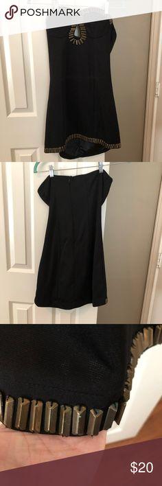 Black Dress With Gold Trim Black Dress With Gold Trim Dresses Mini Black Dress Fashion Dresses