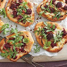 Blackberry-Brie Pizzettas - Best Party Appetizers and Recipes - Southern Living