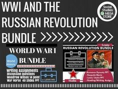 World War I and Russian Revolution Bundle and SPECIAL BONUS /  OVER 2 GB of Material. **What makes these different from the units is that I can include a lot more video and other resources since I am limited to 200 mb of space.*** **PLEASE READ**: This item is only available to download using google drive.