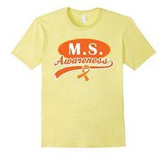 4c159e7a537 Multiple Sclerosis MS Awareness Orange Ribbon T-shirt - Female Large - Lemon