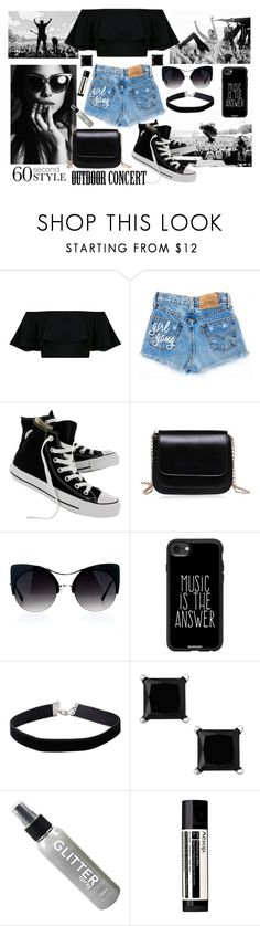 """60-Second Style: Outdoor Concerts"" by nicole231 ❤ liked on Polyvore featuring ADAM, Converse, Casetify, Miss Selfridge, Aesop, 60secondstyle and outdoorconcerts"