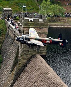 A Lancaster bomber has performed a flypast over Derwent reservoir, 70 years on from the historic World War II raid on German dams. The reservoir was one of the sites where pilots practiced dangerous low-flying ahead of their mission. More than a third of the men never returned from the raids, which required them to fly 60 feet above ground.
