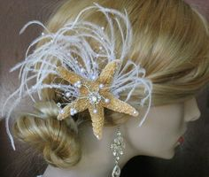 Beach wedding hair accessory if you are really going into the beach decor and idea, island theme