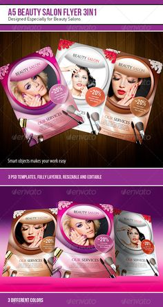 A5 Beauty Salon Flyer – 3 in 1 - Corporate Flyers