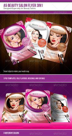 A5 Beauty Salon Flyer – 3 in 1 - Corporate Flyers