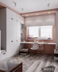 Interior Design and Home Decor Ideas Girl Bedroom Decor, Bedroom Decor, Small Room Bedroom, Kids Room Desk, Home, Childrens Room Decor, Home Office Design, Home Bedroom, Room