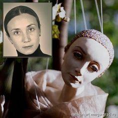 Портретная кукла Анны Кормилициной. - скульптура для интерьера, портретная кукла. МегаГрад - online выставка-продажа авторской ручной работы