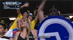 excited soccer fan!
