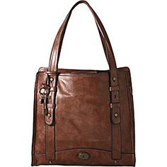 Fossil Vintage Re-Issue North/South Tote - Brown - via eBags.com!