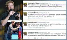 Prince Harry tweets his good luck to Paralympic athletes