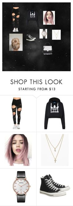 """Idk anymore names to call my outfits"" by isa103 on Polyvore featuring adidas Originals, LOFT, Converse and Lanvin"