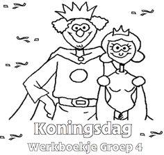 Koningsdag Werkboekje Groep 4 - Klaarwerk.nl